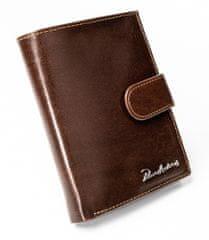 Pierre Andreus Luxusní pánská kožená peněženka s přezkou Randy, hnědá