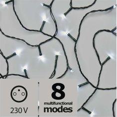 Emos božična razsvetljava, 180 LED, 18 m, hladno bela, program