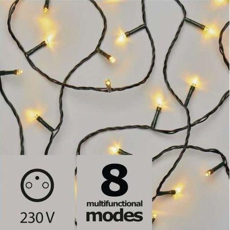 Emos božična razsvetljava, 180 LED, 18 m, topla bela, program