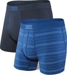 SAXX Sada pánskych boxeriek ULTRA BOXER BRIEF FLY 2PK navy / summit stripe 2 pack