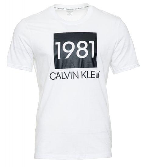 Calvin Klein pánske tričko NM1708E S/S CREW NECK XL biele