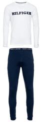 Tommy Hilfiger pánské pyžamo UM0UM01671 CN LS Pant Jersey Logo Set