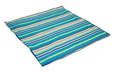 Bo-Camp Pikniková deka Bo-Camp 1,5 x 1,4 m, modrá s pruhy