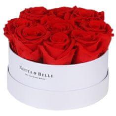 Notta & Belle Červená kytice «Princess» v bílé krabičce - 9 ks