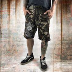 Yakuza Pánské šortky Yakuza DEAD HEAD SSB 10070 - zelené