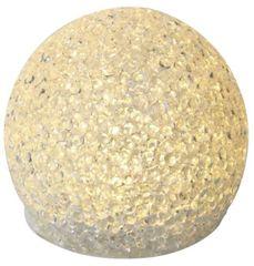 Emos božična dekoracija, žoga, LED, 8 cm, 3 x AA, toplo bela, časovnik