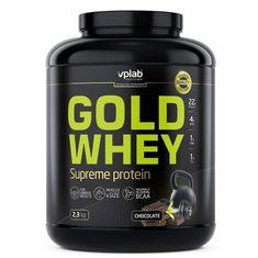 VPLAB Gold Whey prehrambeni dodatek, okus čokolade, 2,3 kg