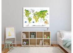 Dimex Obrazy na plátne - Detská mapa 100 x 75 cm