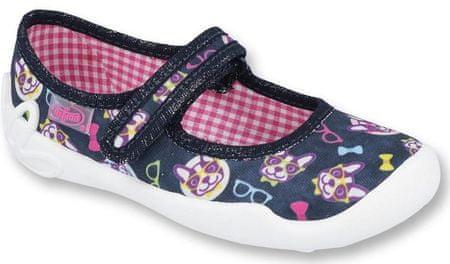 Befado papuče za djevojčice s motivom psa, 25, crne