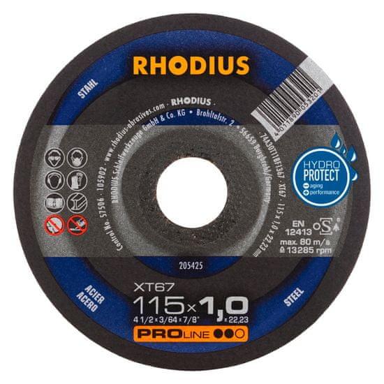 Rhodius Rezný kotúč kov 115x1,0x22,2 XT67