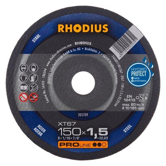 Rhodius Rezný kotúč kov 150x1,5x22,2 XT67