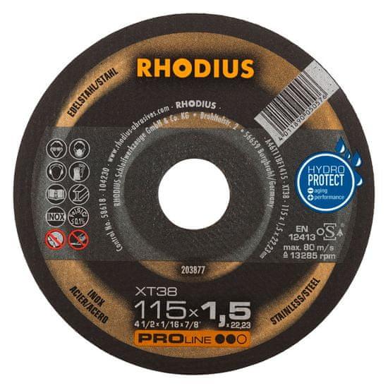 Rhodius Rezný kotúč nerez 115x1,5x22,2 XT38