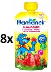 Hamánek Kojenecká výživa Svačinka s jahodami 8x 120g