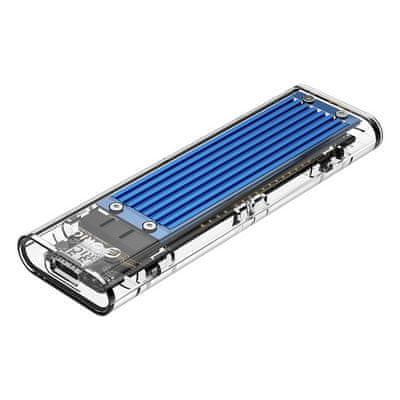 Orico TCM2 zunanje ohišje za M.2 NVMe, 2230-2280 v USB-C 3.1, modro