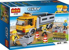 Cogo stavebnice Dálniční opravy typ LEGO 263 dílů
