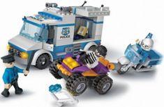 Cogo stavebnice Policie - pronásledování zločince typ LEGO 290 dílů