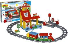 Unico Plus Unico Plus stavebnice Velké nádraží typ LEGO DUPLO 100 dílů
