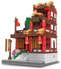 XINGBAO Xingbao stavebnice Čínská čtvrť - Obchod s látkami typ LEGO 413 dílů