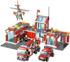 Blocki Blocki stavebnice Hasiči - Hasičská stanice velká LEGO kompatibilní 774 dílů