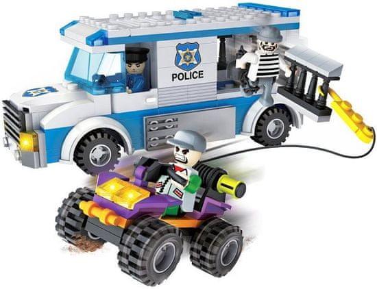 Cogo stavebnice Policie - přepadení transportu vězňů typ LEGO 261 dílů