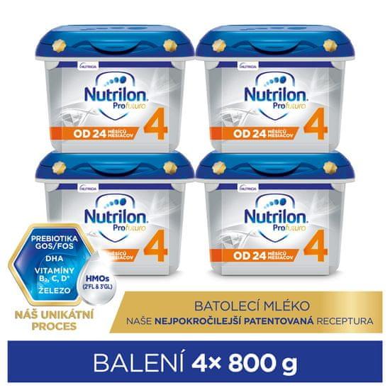 Nutrilon 4 Profutura batolecí mléko 4x 800 g, 24+