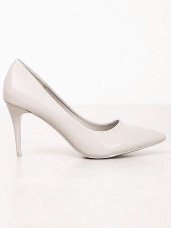 Női körömcipő 60232 + Nőin zokni Gatta Calzino Strech, szürke és ezüst árnyalat, 39