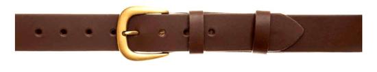 Zubíček OP 06/a Opasek kožený hladký 4 cm - 110 cm