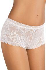 Gabidar Bavlněné krajkové nohavičkové kalhotky 150 bílé
