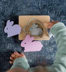 Kindsgut Dřevěné vkládací puzzle Králíček