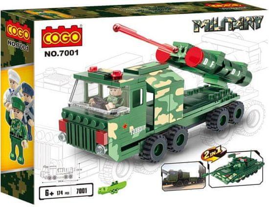 Cogo stavebnice Mobilní raketomet 2v1 typ LEGO 174 dílů