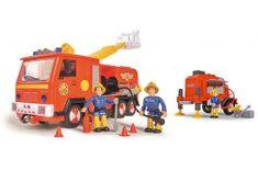 Simba Požárník Sam auto Jupiter s přívěsem