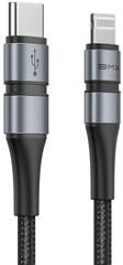 BASEUS BMX Double-deck MFi certifikovaný kabel Type-C na Lightning PD (18W 1.8M), šedá + černá, CATLSJ-BG1