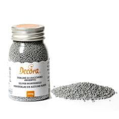 Decora Cukrové zdobení mini perličky 1,5mm stříbrné 100g