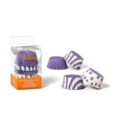 Decora Košíčky na muffiny 75ks bílo fialové