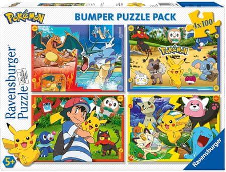 Ravensburger Puzzle 100 db 4 Puzzles - Pokemon