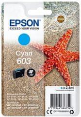 Epson 603, azúrová (C13T03U24010)