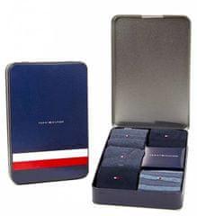 Tommy Hilfiger Darčeková sada ponožiek Sharp stripes 5pack giftbox 492006001-322 Dark Navy