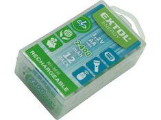 Extol Energy Baterie nabíjecí, 12ks, AA (HR6), 1,2V, 2400mAh, NiMh