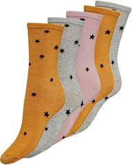 Jacqueline de Yong Sada ponožiek JDYMIDNIGHT STAR 5-PACK SOCK BOX JRS Inca Gold Lurex