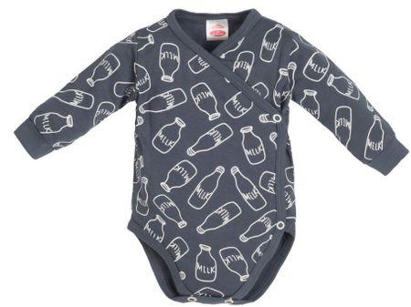 Makoma Milk otroški bodi, 56, temno siv