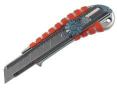 Extol Premium Nůž ulamovací kovový s kovovou výztuhou a kolečkem, 18mm