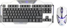 E-Blue zestaw Auroza, biały, US (EKM811WHUS-IU)