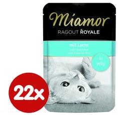 Finnern hrana za mačke Miamor, lososov ragu, 22 x 100g