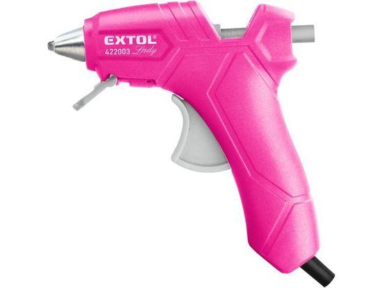 Extol Lady Pistole tavná lepící, Ř7,2mm, 25W, růžová