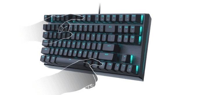 klawiatura gamingowa Cooler Master MK730, Cherry MX Brown, US MK-730-GKCM1-US podświetlenie RGB
