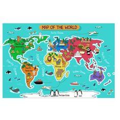 Wall Impact mapa světa s nálepkami
