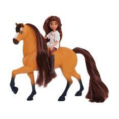 SPINBRUSH figurka koně s jezdkyní Lucky
