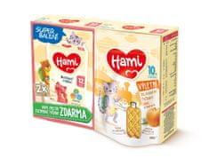 Hami 12+ batoľacie mlieko 2x 600 g + Hami Výletné zeleninové tyčinky Tekvica a Rozmarín 100 g, 10+