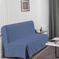 Hometrend elegantní potah na pohovku, 140x190 cm, barva modrá