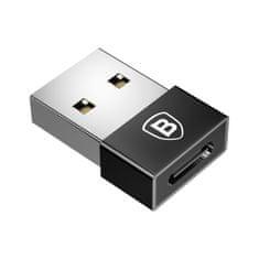 BASEUS adapter Exquisite USB-C męski/USB żeński (czarny), CATJQ-B01